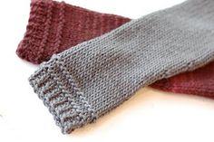 knit fingerless gloves.