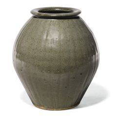 Bernard Leach for St Ives Pottery, 1887-1979 VASE with impressed monogram and St Ives Pottery seal glazed stoneware height: 21.5cm. Executed circa 1965.