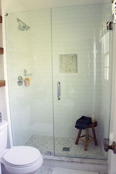 Tiny Master Bath Remodel With Carrara Hex And Subway Tile Rustic - Tiny master bathroom remodel