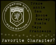 Who is your favorite Operation Zulu Redemption character? #RFFTF