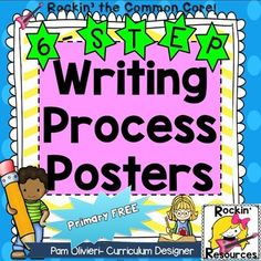 Writing Process Posters and Printable- Adorable!