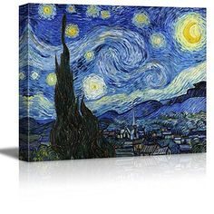 signwin Canvas Wall Art Van Gogh The Starry Night Poster Giclee Wall D Starry Night Images, Starry Night Light, Gogh The Starry Night, Art Van, Van Gogh Art, Canvas Wall Art, Wall Art Prints, Poster Prints, Canvas Canvas