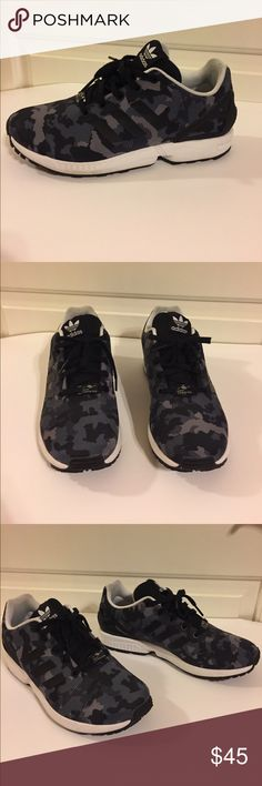 adidas ZX Flux Cameo Size 6 1/2 Shoes have been worn only once. In great condition. No tears or scratches in a size 6 1/2. adidas Shoes Sneakers