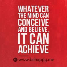 one fab quote by napoleon hill. #believe #achieve