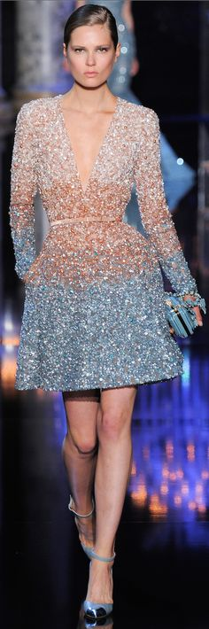 FASHION, FALL 2014 COUTURE, ELIE SAAB FALL 2014-2015 COUTURE, RUNWAY,