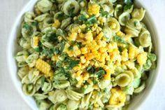 Avocado-Pesto Pasta Salad with Fresh Corn