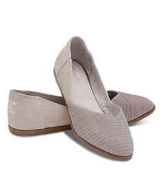 Toms Gray Snake Suede Jutti Flat