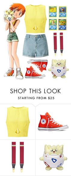 """""""Misty"""" by waywardfandoms ❤ liked on Polyvore featuring Miss Selfridge, Converse, Saddlebred, casual and Pokemon"""