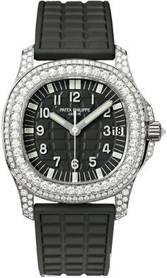 5069G-001 Patek Philippe Aquanaut Womens 18K White Gold Watch | WatchesOnNet.com