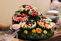 Fresh Fruit Cascade decorated the buffet beautifully!