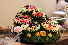 Fresh Fruit Cascade decorated the buffet beautifully!