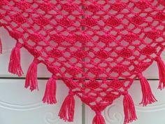 Tyra Triangle  Shawl, Free Crochet Pattern, Lacy Scarf Pattern, Triangle Shawl Pattern