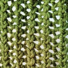 Ridge Lace Stitch - Purl Avenue