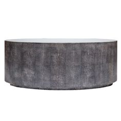 An oval shape is the newest addition to our Cara collection. The large round shape of our current coffee table doesn't work for every space and so we are introducing the oval. Still finished with our realistic faux shagreen and topped with mirror.