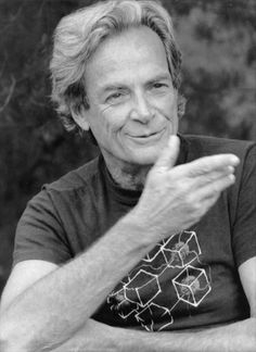 Nobel prize-winning physicist Richard Feynman arguably the greatest science lecturer ever.