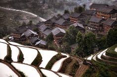 Village montagnes Chine