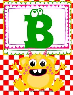 MONSTER ALPHABET POSTERS FREE
