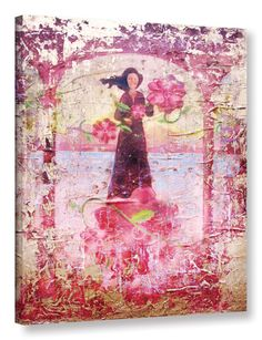 Flower Happy by Greg Simanson Graphic Art on Wrapped Canvas