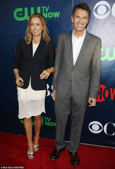 New beau: The Madam Secretary actress began dating her on-screen husband Tim Daly over the...