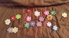 Flower Bobbypins by knitcreations86 on Etsy