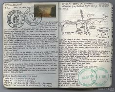 Neat idea to have postal stamp in journal.