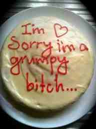 My husband deserves this cake. I'm sorrys aren't cuttin it anymore! Poor guy!