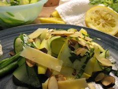 Adventures in all things food: Shaved Zucchini Summer Salad #Recipe - Secret Recipe Club