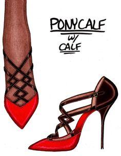 Steve Goss shoe design illustration