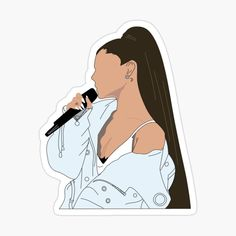 'Ari Singing ' Sticker by Bubble Stickers, Phone Stickers, Cool Stickers, Printable Stickers, Logo Sticker, Sticker Design, Ariana Grande Photoshoot, Preppy Stickers, Brand Stickers