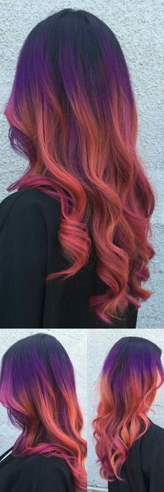 purple ombre dyed hair @jenniferlopiccolo_llc