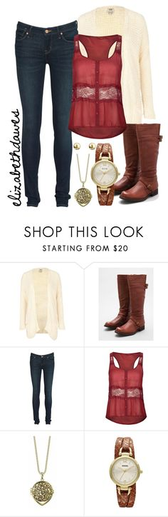 """""""Today's outfit 3-13-13"""" by elizabethdawes ❤ liked on Polyvore featuring River Island, Miz Mooz, Marc by Marc Jacobs, Full Tilt, Belle Noel by Kim Kardashian, FOSSIL and Marks & Spencer"""
