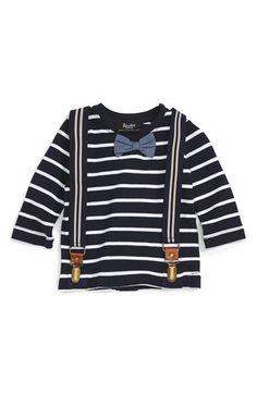 Bardot Junior Bardot Junior Stripe T-Shirt & Suspenders Set (Baby Boys) available at #Nordstrom