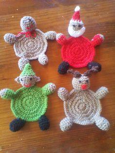 Knot Your Nana's Crochet: Christmas Coaster