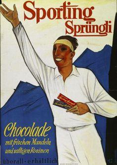 Sporting Sprüngli - Chocolade mit frischen Mandeln und saftigen Rosinen