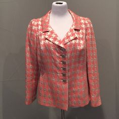 Peggy Jennings Blazer Worn very few times. Classic look with a colorful twist. Silk lined Peggy Jennings Jackets & Coats