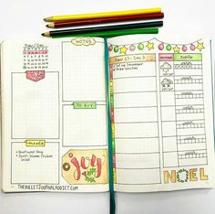 Layout by the bullet journal addict on Instagram