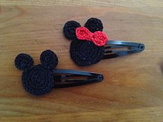 Ravelry: Mouse Head Appliques pattern by Sarah M. Crochet Mickey Mouse, Crochet Disney, Mickey Mouse Head, Crochet Baby, Minnie Mouse Headband, Minnie Bow, Crochet Hair Accessories, Crochet Hair Styles, Baby Patterns