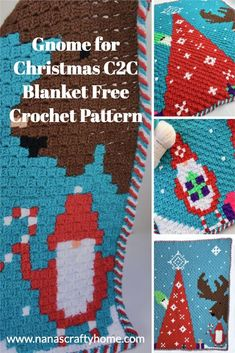 Christmas Crochet Blanket, Christmas Afghan, Christmas Crochet Patterns, Holiday Crochet, Crochet Blocks, Crochet Blanket Patterns, Crochet Blankets, Crochet Afgans, Free Crochet
