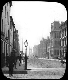 Frozen in time: Yonge Street, Toronto, 1875 (pictured). Visit Toronto, Toronto Ontario Canada, 1800s Photography, Places Around The World, Around The Worlds, Yonge Street, Canadian History, Historical Architecture, Landscape Photos