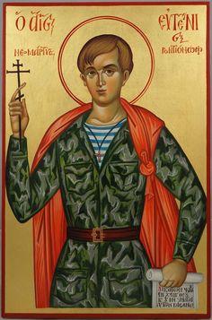 St Evgeny (Eugene) Rodionov New Martyr Hand-Painted Byzantine Icon