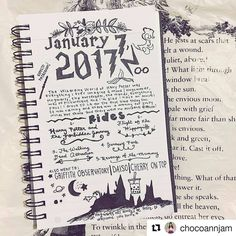 "1,710 Likes, 9 Comments - Bullet Journal Inspire  (@bujoinspire) on Instagram: ""Dia de HP por aqui haha  #Repost @chocoannjam with @repostapp ・・・ Today was an eventful day!…"""