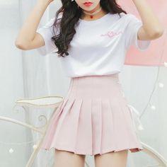 Heart Pretty T-shirt & Strap High Waist Skirt – SYNDROME - Cute Kawaii Harajuku Street Fashion Store Source by outfits street Teen Fashion Outfits, Mode Outfits, Cute Fashion, Fashion Models, Trendy Teen Fashion, Girly Girl Outfits, Pastel Fashion, 2000s Fashion, Fashion Stores