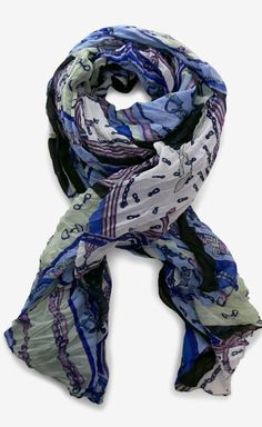 Blue, Green And Multicolor Scarf