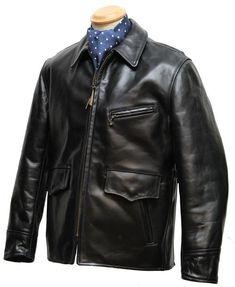 Long Half Belt horsehide leather jacket - Aero Leathers, UK
