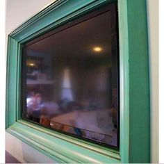 Hubby S Diy Frame Tv On Wall Ideas I Ve Tried From