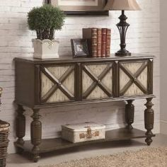 """Check out the Coaster Furniture 950294 Console Sofa Table with """"X"""" Style Fronts in Two-Tone Brown #coasterfurniturecouch"""