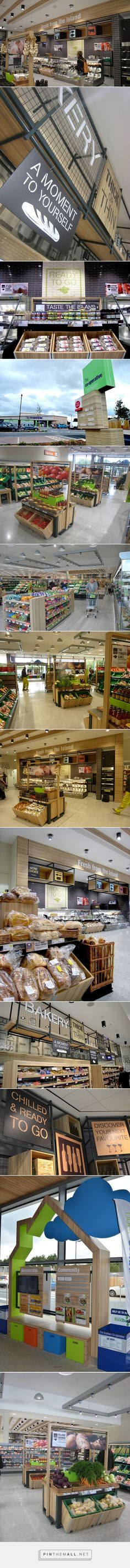 Design showcase: the Isle of Wight& local Co-Operative - Retail Design World - created on Store Signage, Retail Signage, Retail Store Design, Retail Shop, Food Retail, Lofts, Café Bistro, Vitrine Design, Supermarket