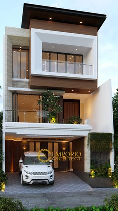 3 Storey House Design, Two Story House Design, Bungalow House Design, House Front Design, House Plans 2 Storey, Modern Bungalow, Indian House Exterior Design, Modern Exterior House Designs, Modern House Facades