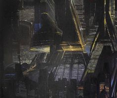 Blade Runner [( Science-fiction, dystopia, future noir, Blade Runner, cyberpunk, night skylines, dark city, Metropolis )]