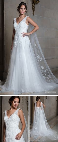 Marys Bridal Bridal Wedding Dresses dress with Style - Fabric - Tulle Lace Applique  and Color - Ivory or White e94360cfb06e
